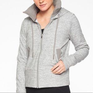 Athleta victory hoodie gray hoodie zip sweatshirt